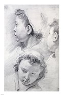 Three Studies of the Head of a Youth