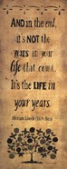 The Years in Your life