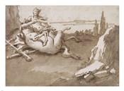 A Centaur and a Female Faun in a Landscape