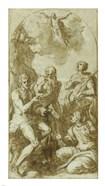 Christ the Savior above Saints John the Baptist, Jerome, Catherine, and Thomas