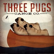 Three Pugs in a Canoe v