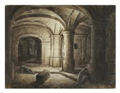 The Crypt of a Church with Two Men Sleeping