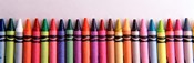 Close-up of assorted wax crayons