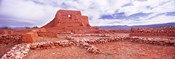 Ruins of the Mission, Pecos National Historical Park, Pecos, New Mexico, USA
