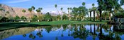 Reflection of trees on water, Thunderbird Country Club, Rancho Mirage, Riverside County, California, USA