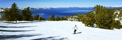 Tourist skiing in a ski resort, Heavenly Mountain Resort, Lake Tahoe, California-Nevada Border, USA