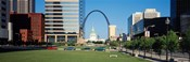 Buildings in a city, Gateway Arch, Old Courthouse, St. Louis, Missouri, USA