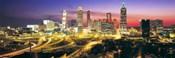 Skyline, Evening, Dusk, Illuminated, Atlanta, Georgia, USA,