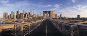 Pedestrian Walkway Brooklyn Bridge New York NY USA