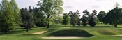 Sand traps on a golf course, Baltimore Country Club, Baltimore, Maryland