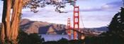 Golden Gate Bridge with Mountains