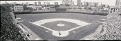 Wrigley Field in black and white, USA, Illinois, Chicago