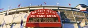 Red score board outside Wrigley Field,USA, Illinois, Chicago