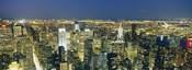 Buildings Lit Up At Dusk, Manhattan, NYC, New York City