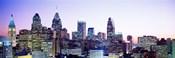 Philadelphia Lit Up At dusk