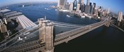 New York, Brooklyn Bridge, aerial