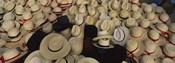 High Angle View Of Hats In A Market Stall, San Francisco El Alto, Guatemala