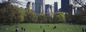 Group of people in a park, Central Park, Manhattan, New York City, New York State, USA