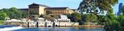 Art museum at the waterfront, Philadelphia Museum Of Art, Schuylkill River, Philadelphia, Pennsylvania, USA
