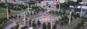 High angle view of a park, Centennial Olympic Park, Atlanta, Georgia, USA