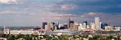 Skyline with Invesco Stadium, Denver, Colorado, USA