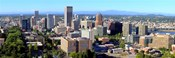 High angle view of a cityscape, Portland, Multnomah County, Oregon