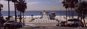 Pier over an ocean, Manhattan Beach Pier, Manhattan Beach, Los Angeles County, California, USA