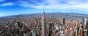 Aerial view of New York City with empire state building, New York State