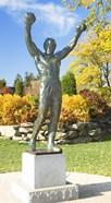 Statue of Rocky Balboa, Philadelphia Museum of Art, Benjamin Franklin Parkway, Fairmount Park, Philadelphia, Pennsylvania, USA
