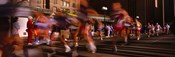 Blurred Motion Of Marathon Runners, Houston, Texas, USA
