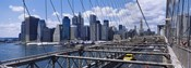Traffic on a bridge, Brooklyn Bridge, Manhattan, New York City, New York State