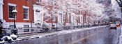 Winter, Snow In Washington Square, NYC, New York City, New York State, USA