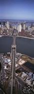 Aerial View Of A Bridge, Brooklyn Bridge, Manhattan, NYC, New York City, New York State, USA