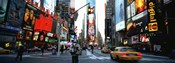 Traffic on a road, Times Square, New York City