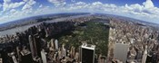 Aerial View of New York City with Central Park