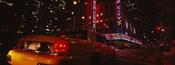 Car on a road, Radio City Music Hall, Rockefeller Center, Manhattan, New York City, New York State, USA