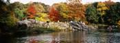 Group of people sitting on rocks, Central Park, Manhattan, New York City, New York, USA