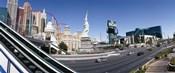 Buildings in a city, New York New York Hotel, MGM Casino, The Strip, Las Vegas, Clark County, Nevada, USA