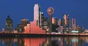 Reflection of skyscrapers in a lake, Digital Composite, Dallas, Texas, USA