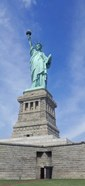 Low angle view of a statue, Statue Of Liberty, Liberty Island, Upper New York Bay, New York City, New York State, USA