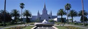 Formal garden in front of a temple, Oakland Temple, Oakland, Alameda County, California