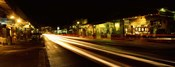 Streaks of lights on the road in a city at night, Lahaina, Maui, Hawaii, USA