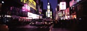 Street scene at night, Times Square, Manhattan, New York City