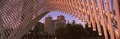 View from under the Myriad Botanical Gardens bandshell, Oklahoma City, Oklahoma, USA