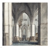 The Choir and North Ambulatory of the Church of Saint Bavo