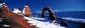 USA, Utah, Delicate Arch, winter