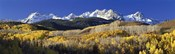 USA, Colorado, Rocky Mountains, aspens, autumn