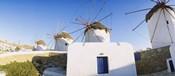 Traditional windmill in a village, Mykonos, Greece