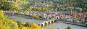 Aerial view of Heidelberg Castle and city, Heidelberg, Baden-Wurttemberg, Germany