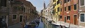 Canal passing through a city, Venice, Italy